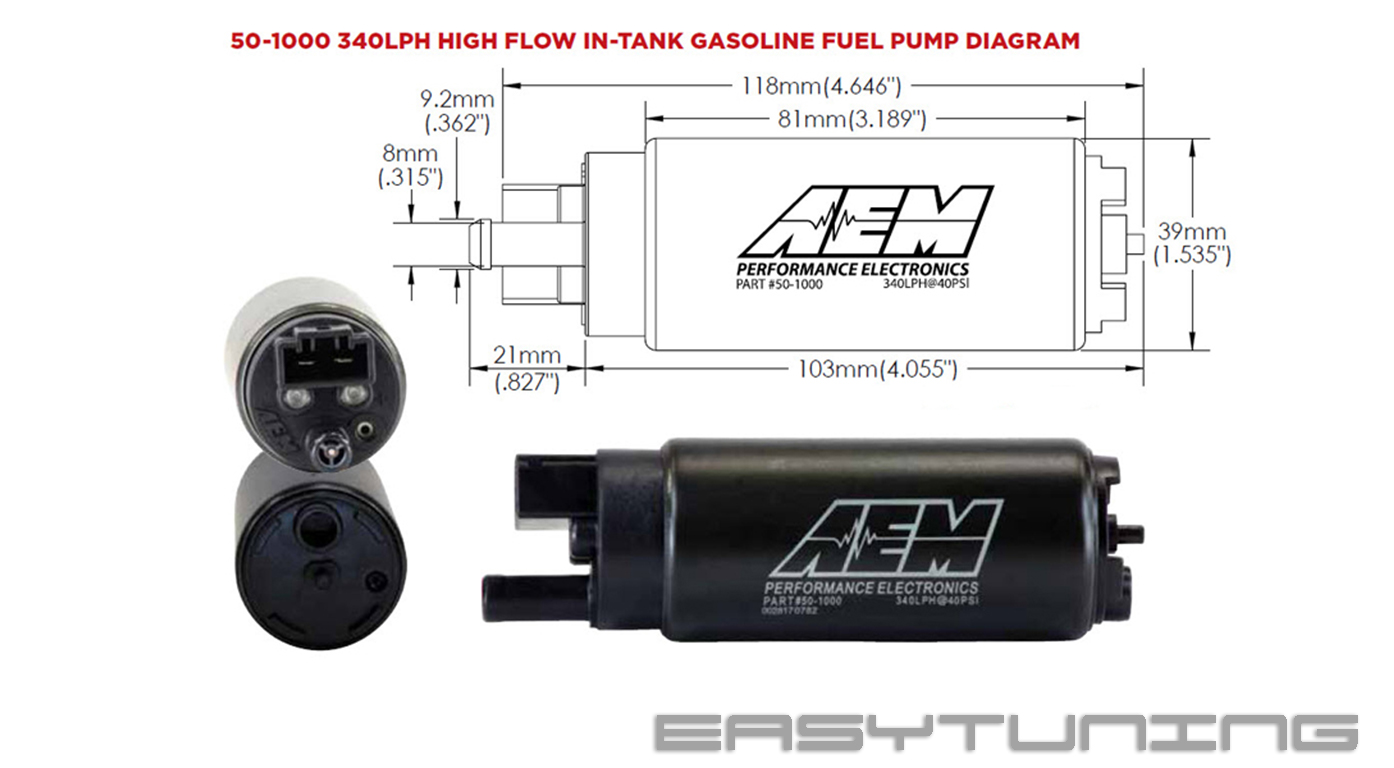 AEM high flow fuel pump